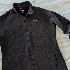 Patagonia full zip better sweater dark grey XL
